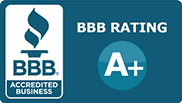 Better Business Bureau logo  for A plus rating